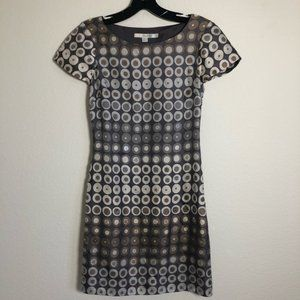BODEN Silk With Sequins Mini Dress Grey size US2